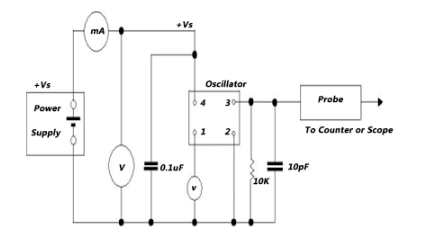 温补晶振3225贴片测试电路图