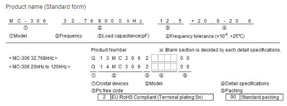 Mc 306 Epson Crystal 32 768khz Passive Crystal Khz Crystal Resonator